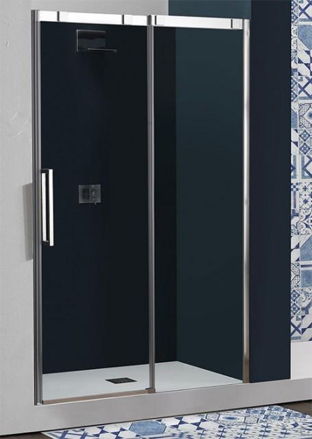Porta doccia scorrevole con sistema soft close psc15n - Porta in cristallo scorrevole ...