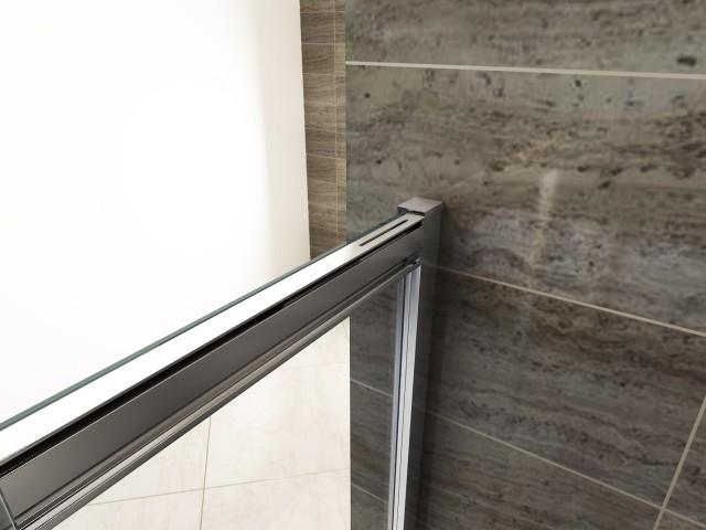 Porta in cristallo per doccia a nicchia chiusura soft - Chiusura per porta scorrevole ...