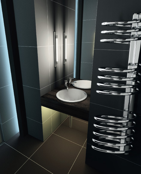 Radiatore da bagno pisa cromato exclusive - Termoarredo bagno cromato ...