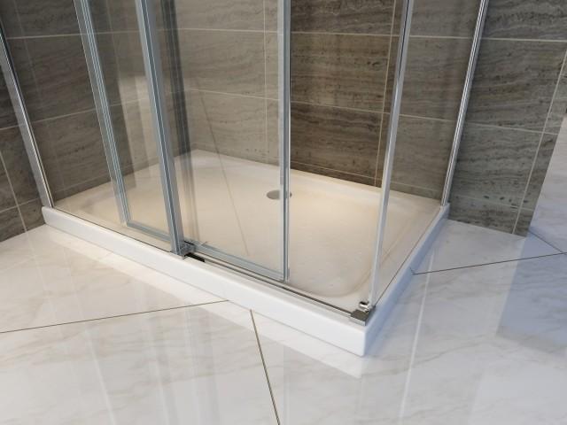 Box Doccia Cristallo Anta Scorrevole : Box doccia con anta fissa e porta scorrevole quot f
