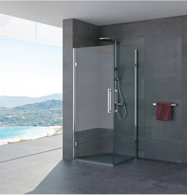Box doccia doppia porta battente magda profili in - Box doccia porta battente ...
