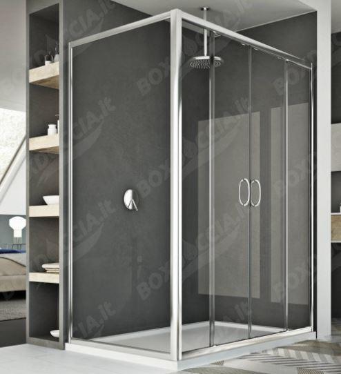 Box doccia doppia porta scorrevole replay - Porta scorrevole doppia ...