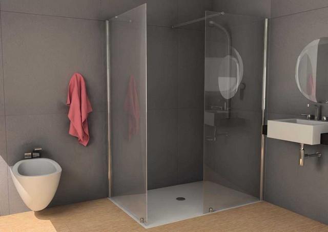 """Box doccia in cristallo walk in """"panorama"""""""