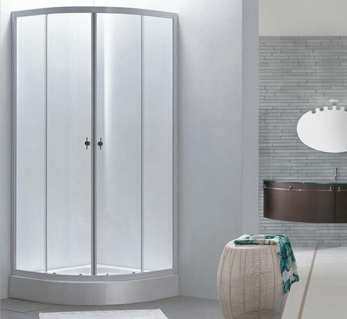 Box doccia semicircolare doppia porta scorrevole bt8090 - Porta in cristallo scorrevole ...