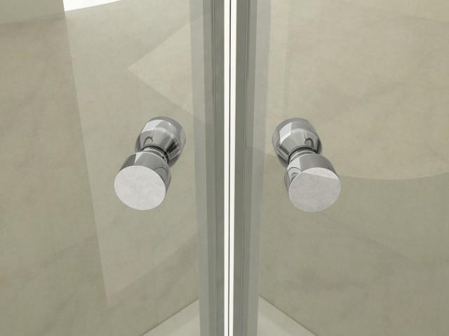Box doccia semicircolare vetro trasparente 6mm apertura battente vs l 39 esterno as ebay - Siliconare box doccia interno o esterno ...