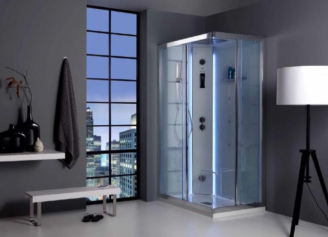 Cabine Doccia Rettangolari : Box doccia rettangolare cm apertura scorrevole vetro mm