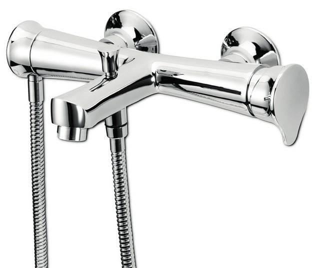 Monocomando vasca con doccia e flessibile doppia aggraffatura belinda - Vasca da bagno doppia ...