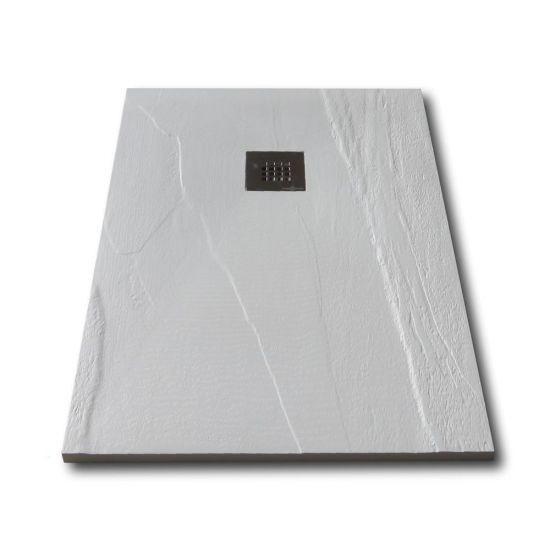 Piatto doccia in solid stone finitura ardesia rettangolare for Piatto doccia rettangolare