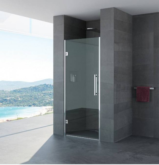 Porta battente per doccia a nicchia tania profili in acciaio inox - Porta doccia nicchia prezzi ...