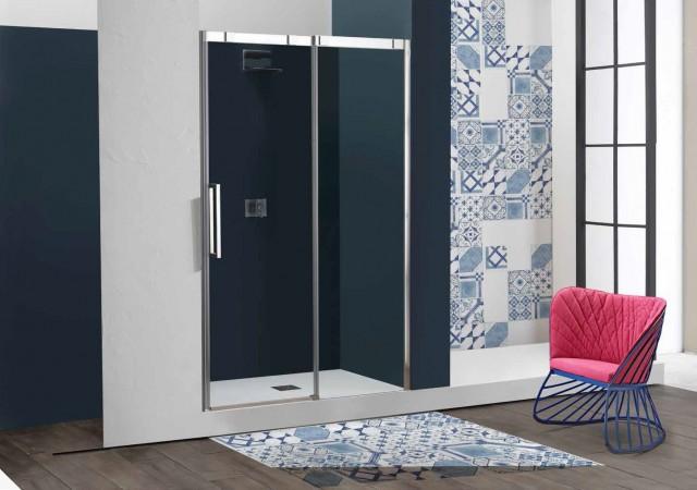 Porta doccia scorrevole con sistema soft close psc15n - Chiusura doccia scorrevole ...