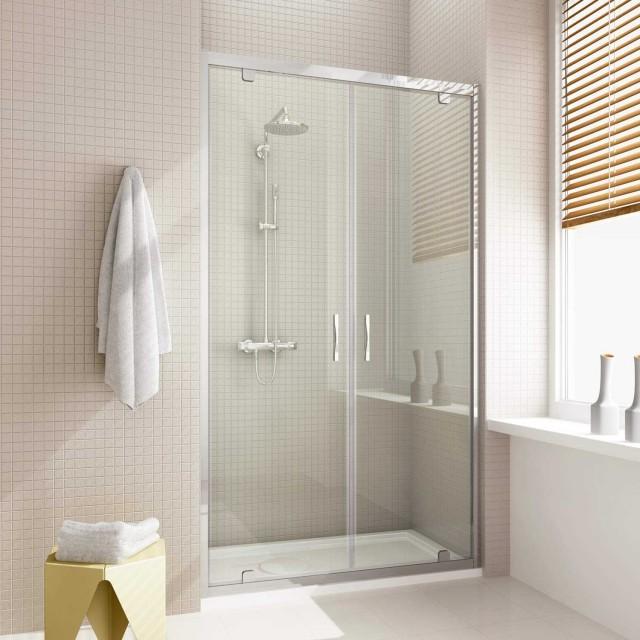 Porta saloon per doccia a nicchia cristal - Porta doccia nicchia prezzi ...