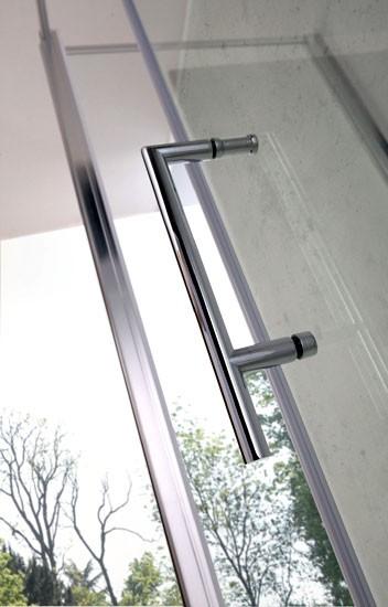 Porta scorrevole in cristallo per doccia a nicchia psc50 - Porta scorrevole per doccia ...
