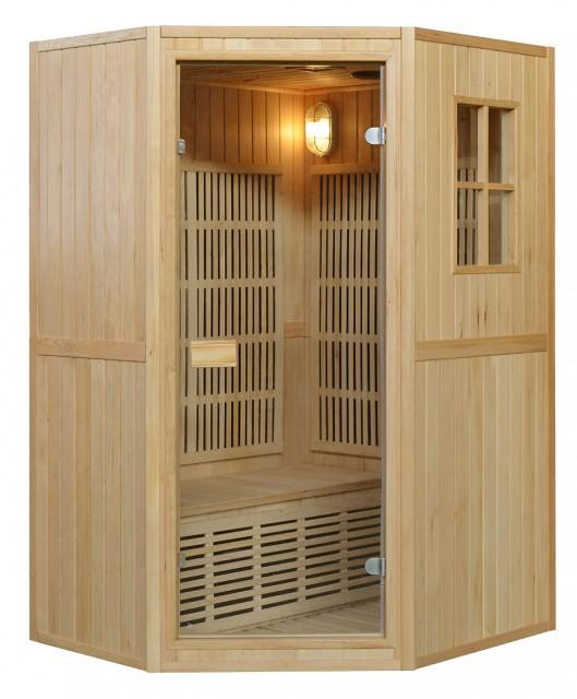 Sauna combinata finlandese infrarossi 200sc 2 posti 125x110x190cm - Bagno finlandese ...