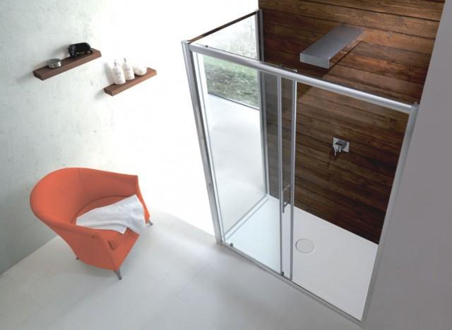 Box doccia con anta fissa e porta scorrevole psc50 - Chiusura doccia scorrevole ...