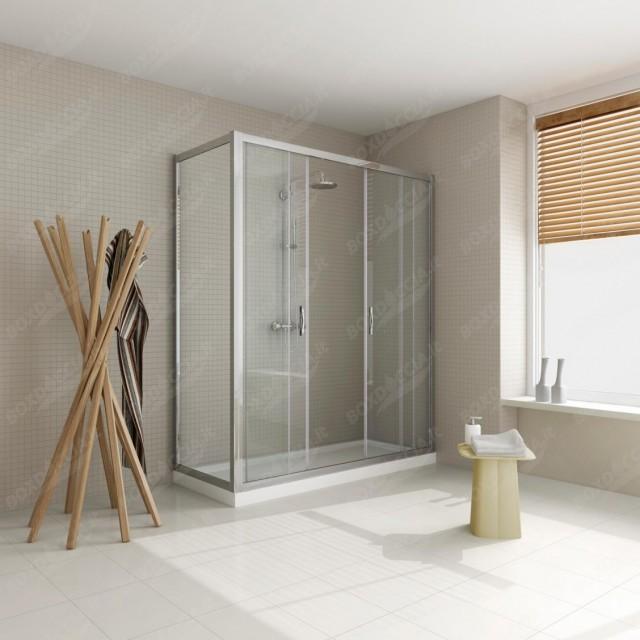 """Box doccia doppia porta scorrevole apertura centrale """"p160 180 2 lati"""""""