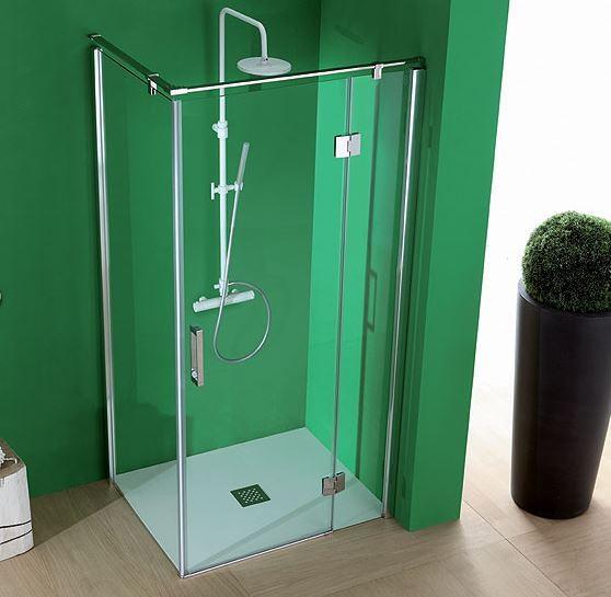 Box doccia in cristallo con porta battente pb72 for Box doccia cristallo