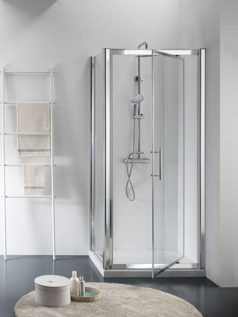 Box doccia in cristallo flag new apertura pivot - Box per vasca da bagno a soffietto ...