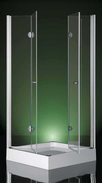 Box doccia in cristallo vega doppia apertura a libro for Box doccia cristallo