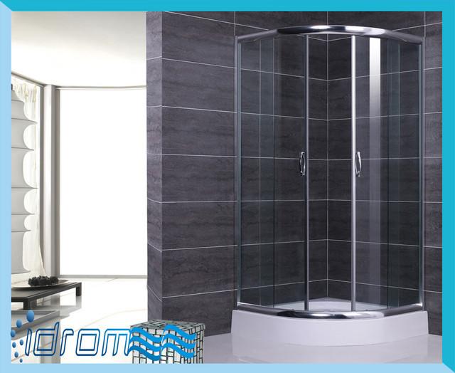 Cabine Doccia Cristallo : Cabina box doccia rettangolare mm in cristallo trasparente easy