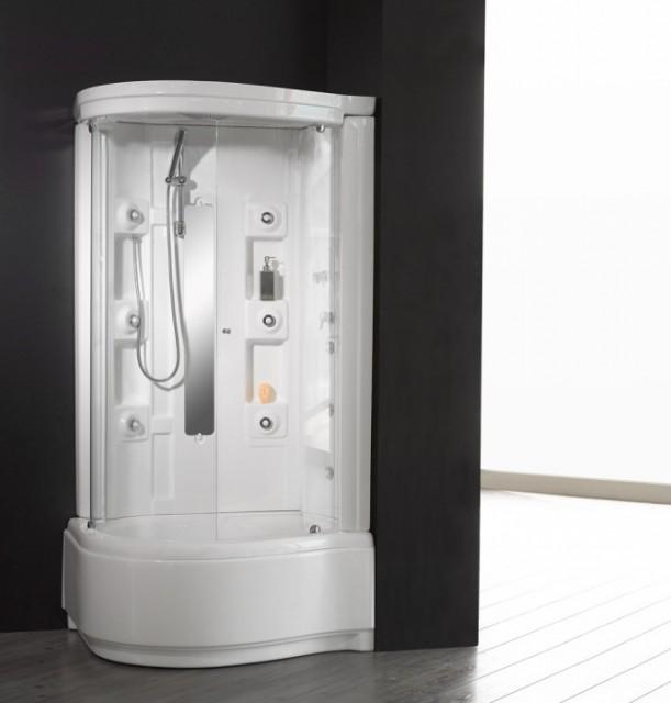 Cabina doccia idromassaggio con piatto alto 110 70 85 - Combinato vasca doccia ...