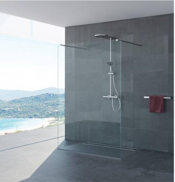 Parete doccia solo vetro senza profili antonella - Doccia senza porta ...