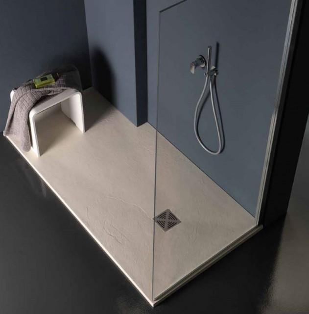 Piatto doccia rettangolare in marmoresina flat r for Piatto doccia rettangolare