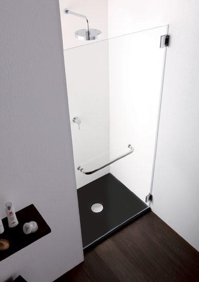 Porta battente per doccia a nicchia pb10 - Porta doccia nicchia prezzi ...