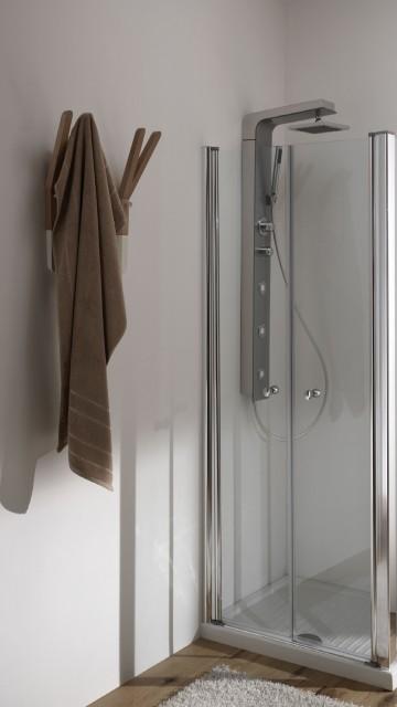 Porta doccia in cristallo saloon door - Porta doccia nicchia prezzi ...