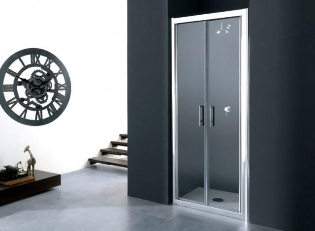 Porta doccia saloon 70 80 90 100cm anta fissa opzionale fisso 70 80 90cm h 190cm for Porta doccia nicchia prezzi