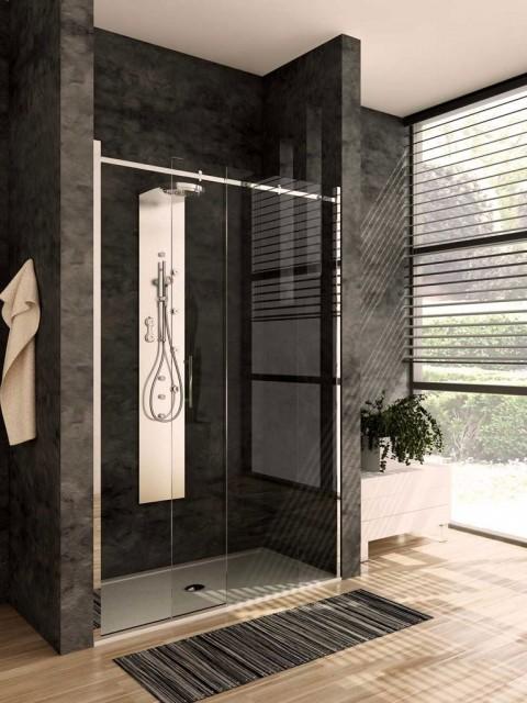 Porta scorrevole per doccia a nicchia qubo - Porta scorrevole per doccia ...