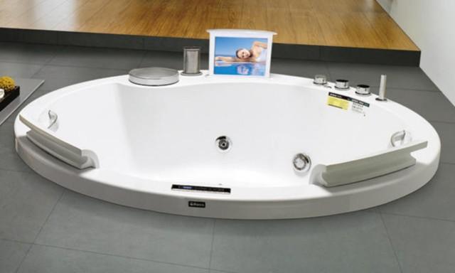 Vasca idromassaggio circolare ol6506 180 h65 for Cabine di grandi dimensioni con vasche idromassaggio