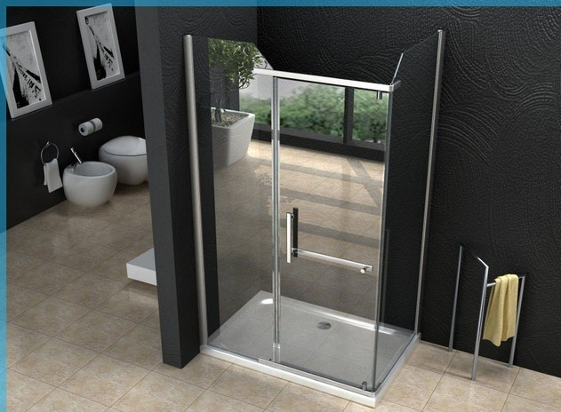 Box doccia in cristallo con apertura a battente interna 1020 for Bricoman porte a soffietto