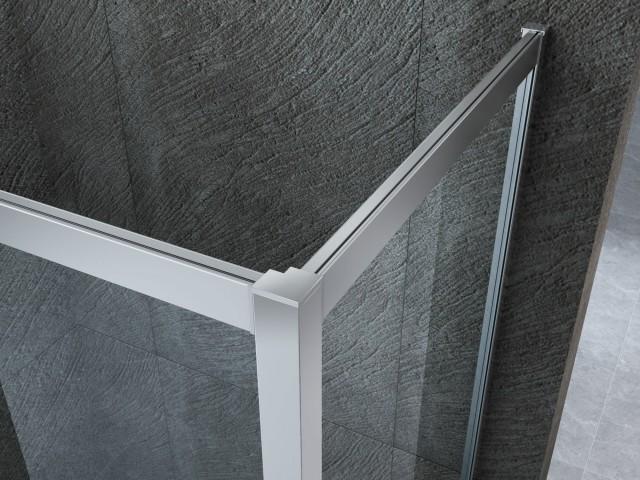 Box doccia in cristallo con singola porta scorrevole 016 - Porta in cristallo scorrevole ...
