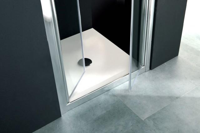 Porta con apertura saloon per doccia a nicchia psl60 - Porta doccia saloon ...