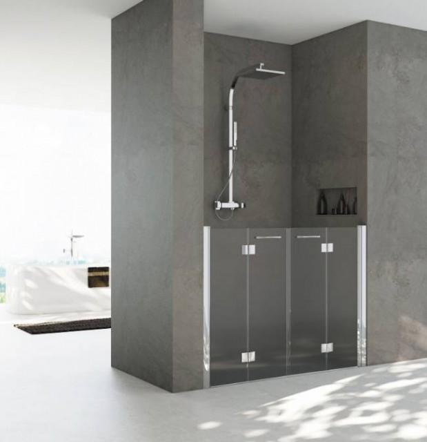 Porta doccia a scomparsa con apertura a libro mod lucilla - Porta doccia nicchia prezzi ...