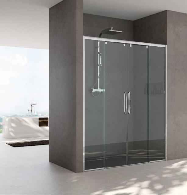 Porta doccia scorrevole per nicchia mod vanessa - Porta scorrevole per doccia ...