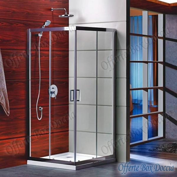 Box doccia doppia porta scorrevole f70 812 for Box doccia scorrevole