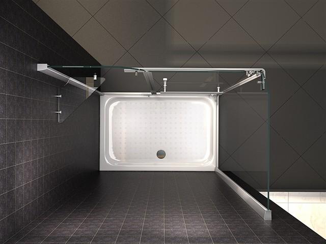Porta doccia apertura interna confortevole soggiorno - Montaggio porta battente ...