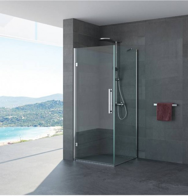 Box doccia porta battente pamela profili in acciaio inox - Box doccia porta battente ...