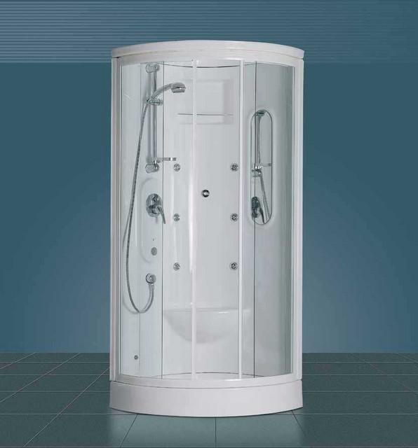 Cabina Doccia Multifunzione 80x80.Box Doccia Semicircolare Calypso