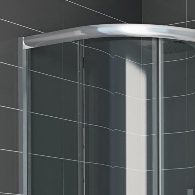 Box doccia vetro semicircolare doppia porta scorrevole - Porta scorrevole vetro prezzo ...
