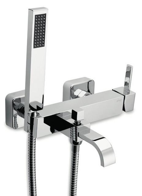 Monocomando vasca con doccia e flessibile doppia aggraffatura - Vasca da bagno doppia ...
