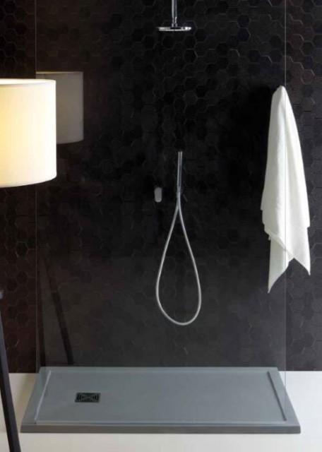 Piatto doccia rettangolare in marmoresina flat bordo for Piatto doccia rettangolare