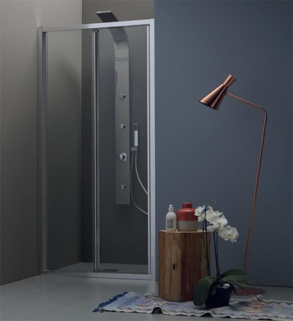 Porta a libro in cristallo per doccia a nicchia ps30 - Porta doccia nicchia prezzi ...