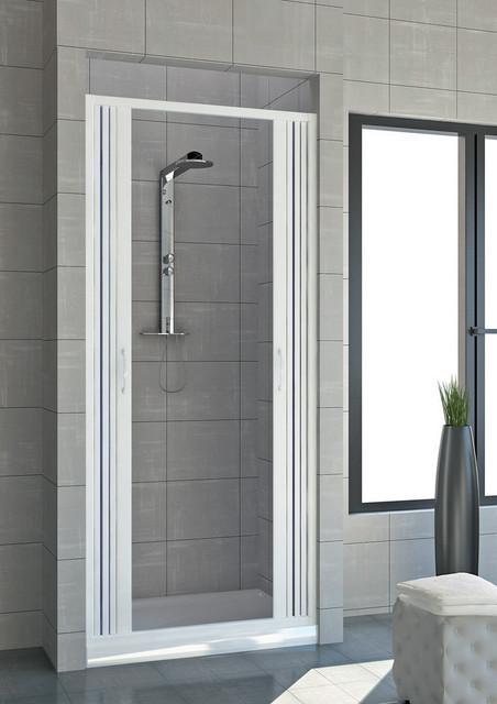 Porta doccia a nicchia con apertura centrale idamac for Porta doccia nicchia prezzi