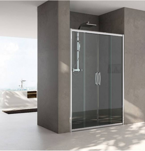 Porta doccia scorrevole per nicchia mod carla - Porta scorrevole per doccia ...