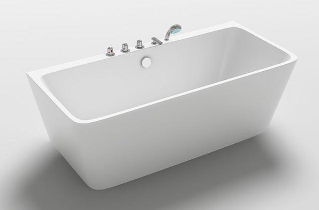 Vasca da bagno freestanding appoggio a parete 170x75 h58 iseo - Vasca da bagno classica prezzi ...