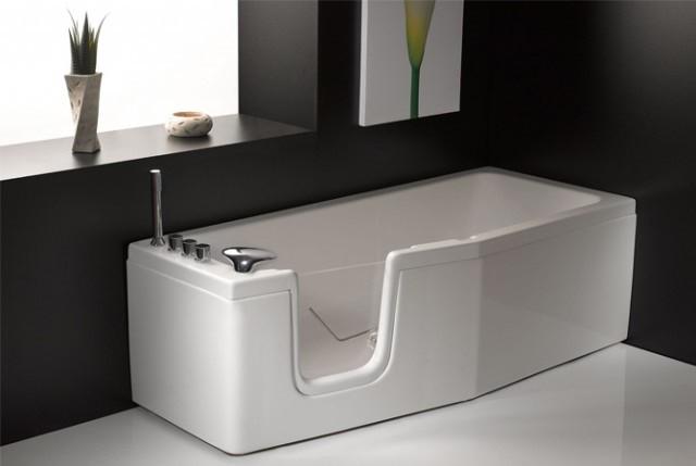 Vasca da bagno salvaspazio con sportello compact 150x70 170 x70 - Vasca da bagno con sportello prezzo ...