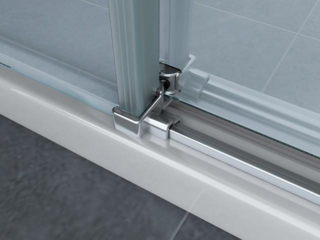 Box doccia con doppia porta scorrevole senza profili 046 - Box doccia senza silicone ...