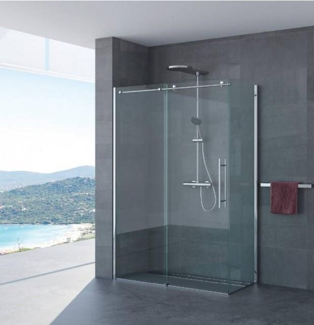 Box doccia porta scorrevole giorgia 3 lati profili in - Doccia senza porta ...